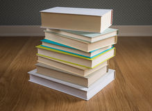 Stack of books on the floor Royalty Free Stock Photography