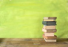 Stack of books. Free copy space,education,back to school concept Royalty Free Stock Photos