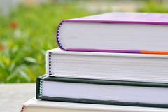 Stack of Books in The Garden Royalty Free Stock Image