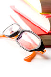 Stack of books and glasses Stock Photography
