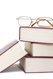 Stack of books and glasses Royalty Free Stock Photos