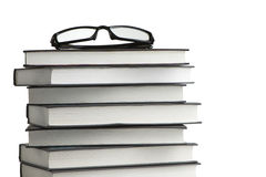 A stack of books and glasses Royalty Free Stock Photography