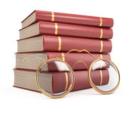 Stack of books and glasses Royalty Free Stock Image