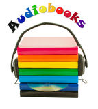 Stack of books and headphones - Audiobooks concept Royalty Free Stock Image