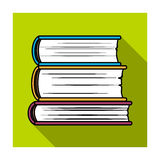 Stack of books icon in flat style  on white background. Books symbol stock vector illustration. Royalty Free Stock Photo