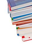 Stack of books. Isolated. And insulated orphaned background stock photo