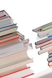 Stack of books. Isolated Stock Photos