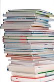 Stack of books. Isolated. And insulated orphaned background royalty free stock photography
