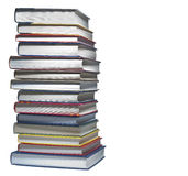 Stack of books, isolated Stock Photography