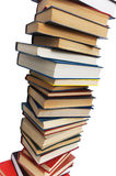 Stack of books isolated. On the white background Stock Photography