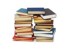 Stack of books isolated. On the white background Stock Photo