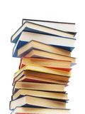 Stack of books isolated. On the white background Stock Image