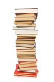 Stack of books isolated. On the white background Stock Images