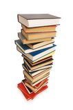 Stack of books isolated Stock Photo