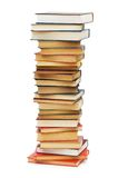 Stack of books isolated Royalty Free Stock Photography