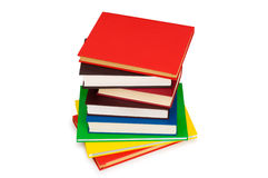 Stack of books isolated. On the white background Royalty Free Stock Photos