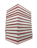 Stack of books isolated with clipping patch Royalty Free Stock Images