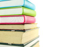 Stack of books isolated closeup on white background Stock Photography