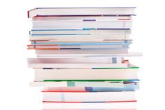 Stack of books. isolated Royalty Free Stock Photos