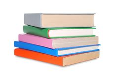 Stack of books isolated over white. Stock Image