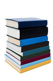Stack of books isolated over white background Royalty Free Stock Image