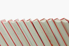 Stack of books isolated. On White royalty free stock image