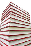 Stack of books isolated on white royalty free stock image