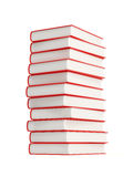 Stack of books. Isolated on white Royalty Free Stock Photography