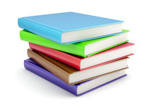 Stack of books isolated. On white Stock Photos