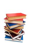 Stack of books  isolated on the white. Stack of books isolated on the white Stock Images