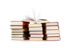 Stack of books. Isolated on white background Stock Photography