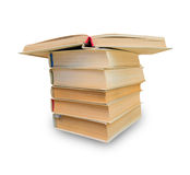 Stack of books isolated Stock Photos