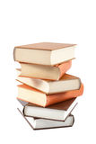 Stack of books isolated on a white background. Stock Photos
