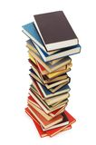 Stack of books isolated on the white background Royalty Free Stock Image