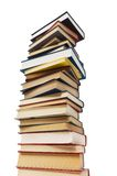 Stack of books isolated on the white background Royalty Free Stock Photography