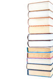 Stack of books isolated on a white background. Stock Image