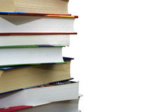 Stack of books isolated on white background. Stack of different books isolated on the wgite background. Clipping path Stock Image