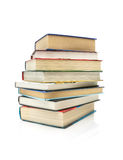 Stack of books isolated on white background close-up Stock Photo