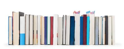 Stack of books isolated. On a white background Royalty Free Stock Photography