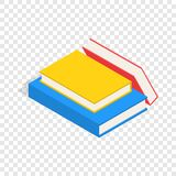 Stack of books isometric icon. 3d on a transparent background vector illustration Royalty Free Stock Images