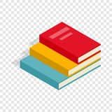 Stack of books isometric icon. 3d on a transparent background vector illustration Royalty Free Stock Photos