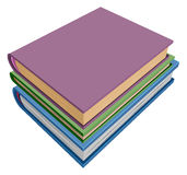 Stack of books isometric projection Royalty Free Stock Photo