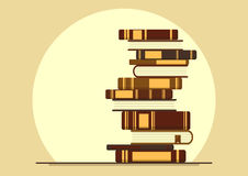 Stack of books. Knowledge, education, study. Concept vector illustration with place for your text vector illustration