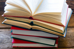 Stack of books for learning Stock Images