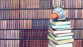 Stack of books in library Royalty Free Stock Image