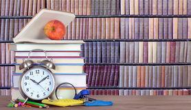 Stack of books in library Stock Photography