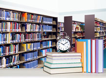 Stack of books in library. For education concept Royalty Free Stock Photos