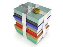 Stack of books locked Stock Image