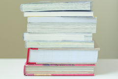 Stack of Books. Many books are stacked on each other Stock Images