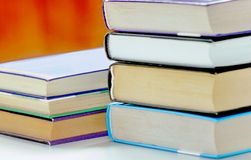 Stack of books. Neat pile, stack of books Royalty Free Stock Photos